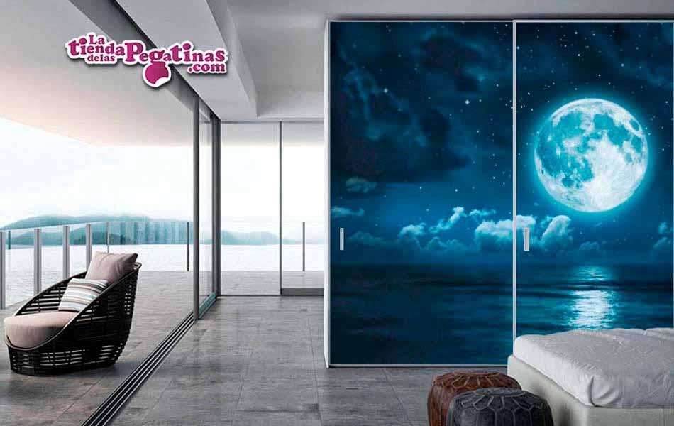 mural luna y mar