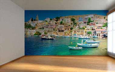 Fotomural Isla griega de Symi