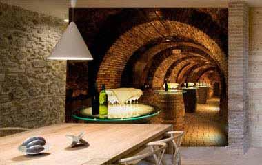 Fotomural Bodega en cueva