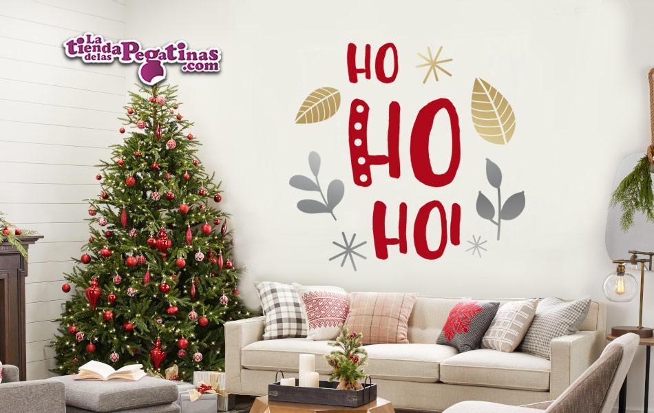 Vinilo Decorativo  Navidad Pegatina Pared Cristalera Ho ho ho!