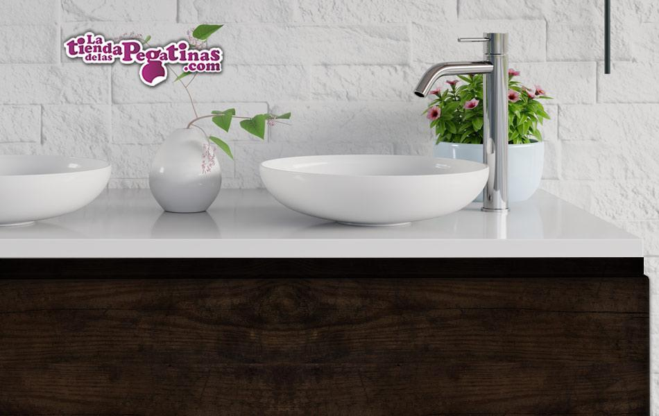 vinilo de madera para baño