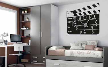 Vinilo - Reloj claqueta de cine -XL-