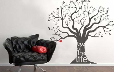 Vinilo decorativo arbol de la vida