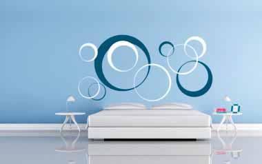 vinilo cabecero cama circular