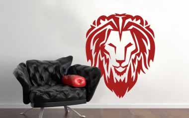vinilo decorativo - Leon tribal