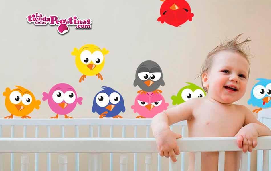 Vinilo infantil Angry and crazy birds