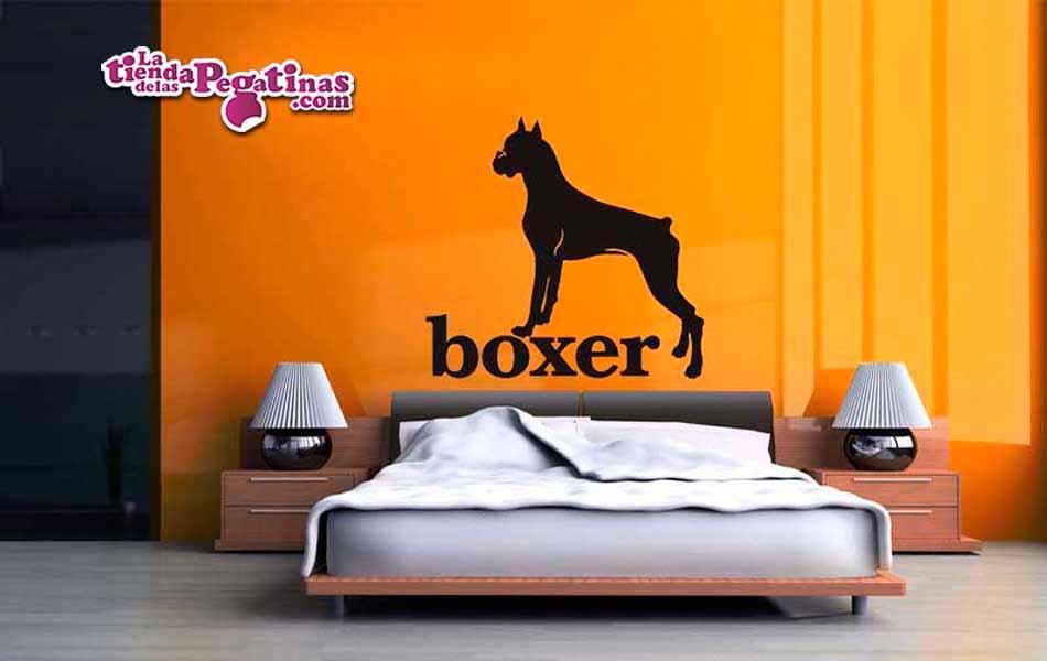 Vinilo decorativo - Perro Boxer
