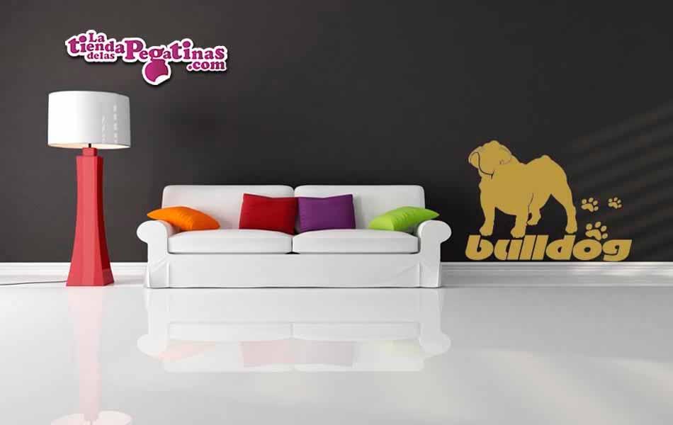 Vinilo decorativo - Perro bulldog
