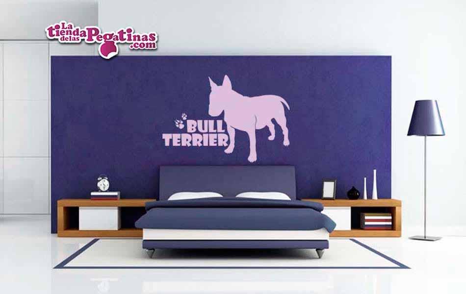 Vinilo decorativo - Perro Bull terrier
