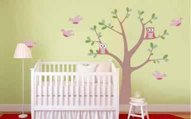 Vinilo rbol infantil el mejor precio env o 24 48h for Pegatinas pared arbol infantil
