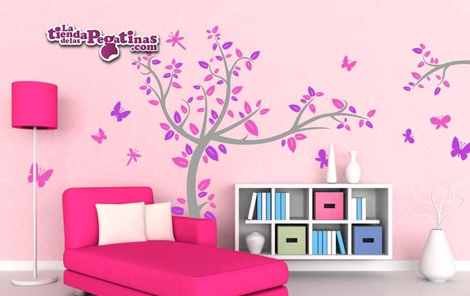 Vinilos mariposas para pared stunning flores y mariposas for Vinilos mariposas