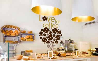 Vinilo decorativo - Love for coffee