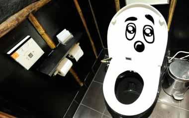 Vinilo decorativo - Cara para wc