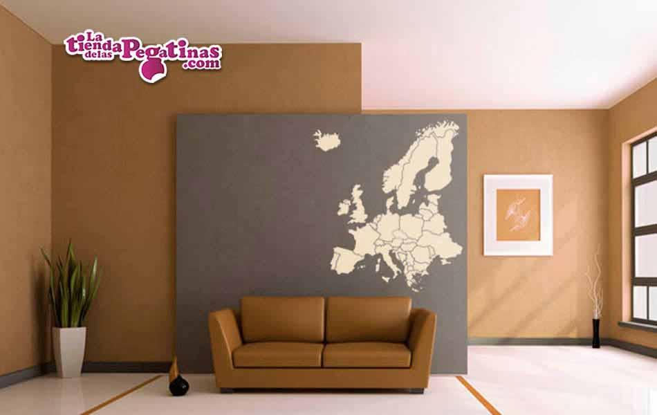 Vinilo decorativo mapa europa la tienda de las pegatinas for Vinilos pared ciudades