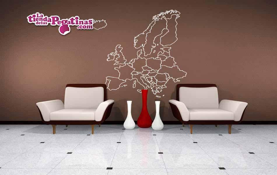 Vinilo decorativo mapa de europa la tienda de las pegatinas for Vinilos pared ciudades