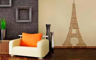 Vinilo Torre Eiffel de letras