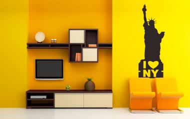 Vinilo decorativo - I Love NY