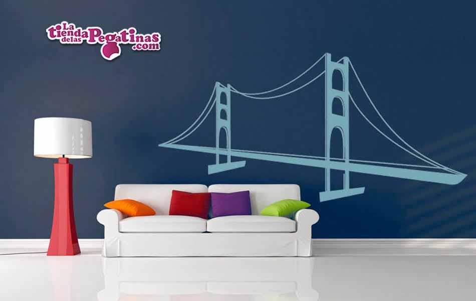 Vinilo decorativo - Puente Colgante