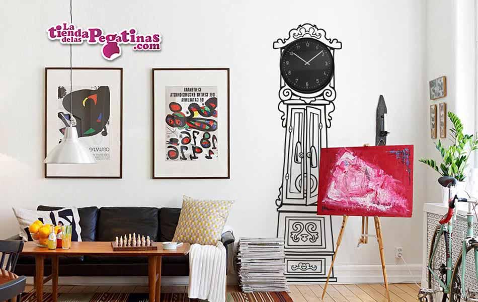 Vinilo Decorativo Reloj carrillon dibujado