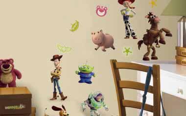 Vinilo infantil - Personajes de Toy Story 3