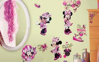 Vinilo infantil - Minnie fashion