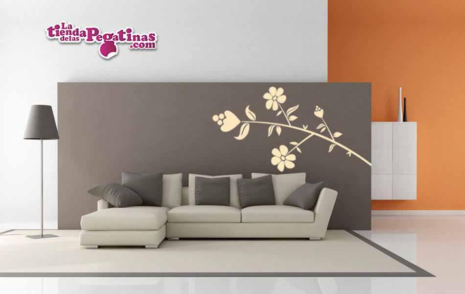 Vinilo decorativo - Flor Isaura