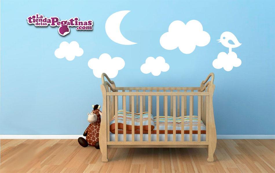 sticker infantil Nubes y Luna