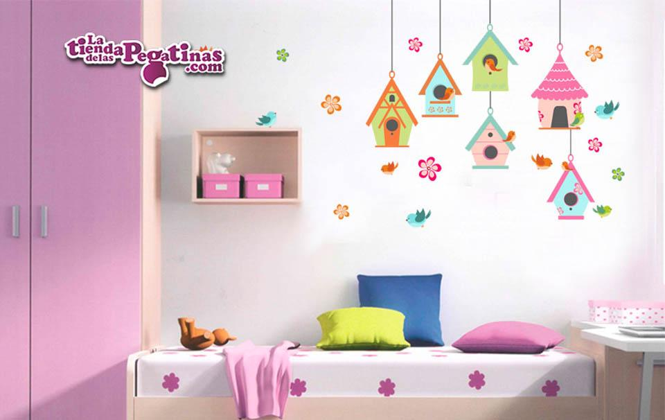 Vinilo infantil nidos de fantas a la tienda de las pegatinas for Vinilo habitacion nina