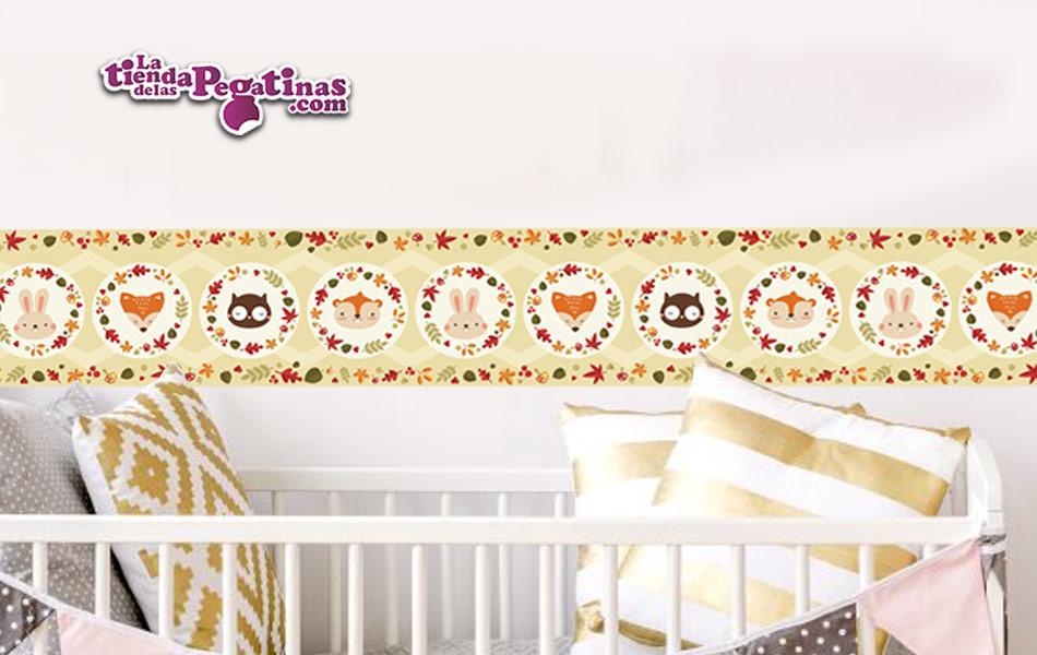 Moderna y tierna cenefa infantil par decorar la habitación de los pequeños de la casa