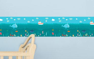 Cenefa infantil Aventuras bajo el Mar
