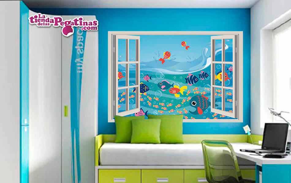 Ventana 3d infantil hacia el mar comprar aqu for Vinilos 3d infantiles
