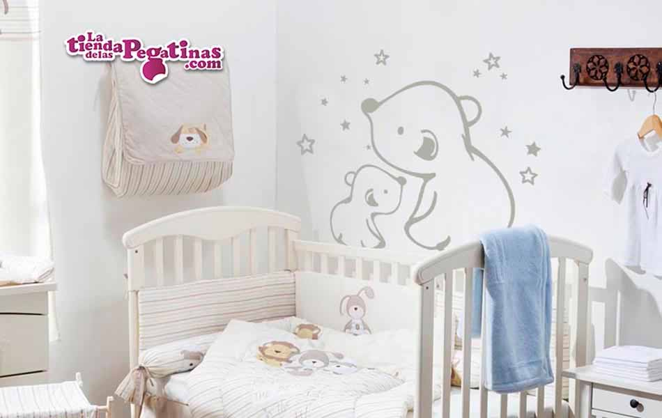Vinilo infantil Osos y estrellas