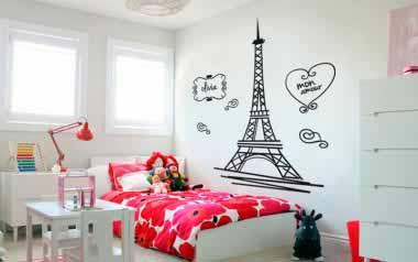 Vinilo - París habitación infantil