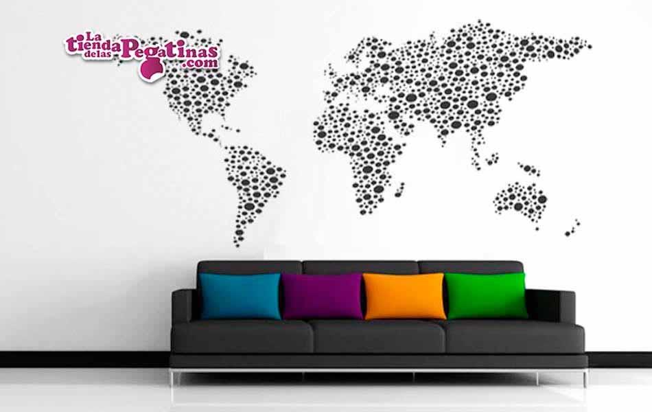 Vinilo decorativo mapamundi ball la tienda de las pegatinas Mapas decorativos