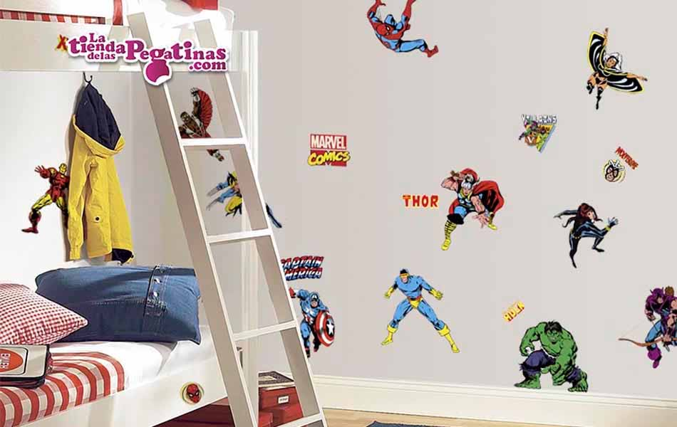 Vinilo infantil Superhéroes Marvel