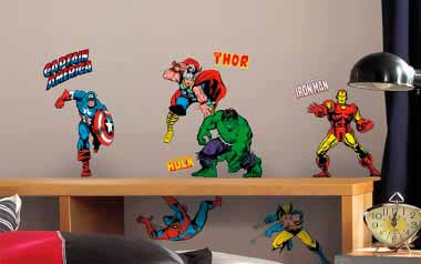 Vinilo infantil Superhéroes Marvel
