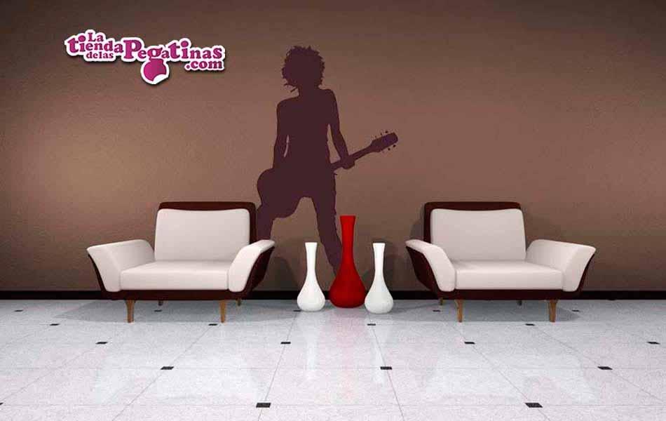 Vinilo decorativo - Guitarrista Rock