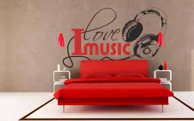 Vinilo decorativo - I love music