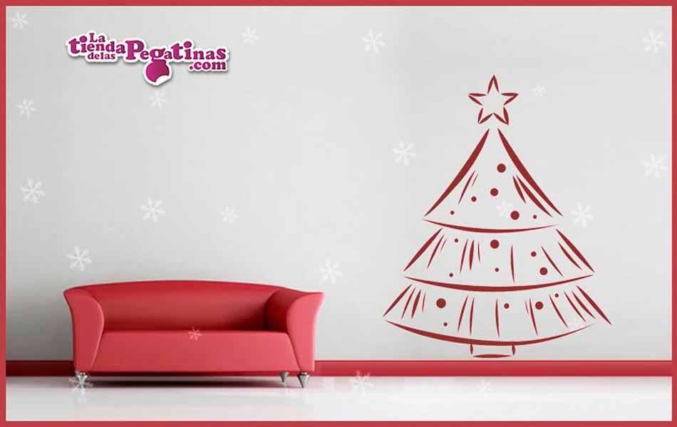 Vinilo decorativo rbol de navidad la tienda de las - Vinilos decorativos de navidad ...
