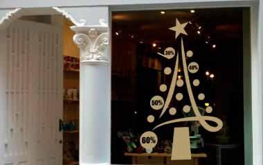 Vinilo rbol navidad descuentos la tienda de las pegatinas - Decorativos de navidad ...