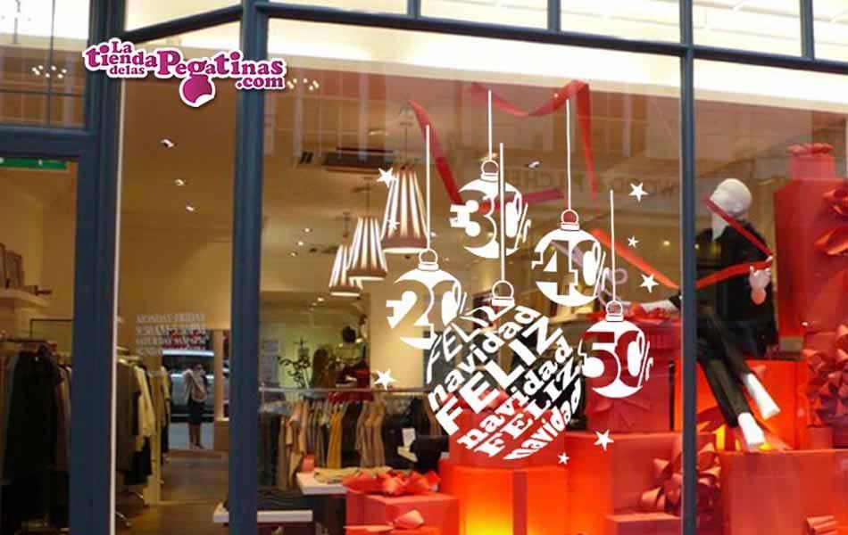 Vinilo bolas de navidad descuentos la tienda de las - Decorativos de navidad ...