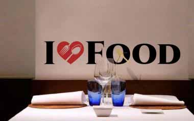 Vinilo decorativo - I love food