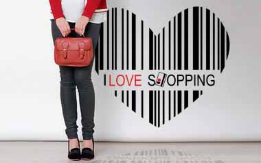 Vinilo decorativo - I love shopping