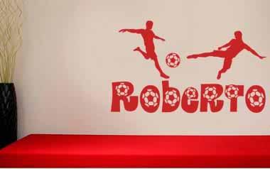 Vinilo infantil - Nombre de futbol