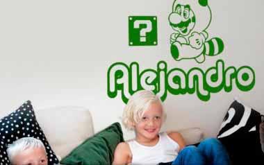 Vinilo Infantil - Nombre arcade