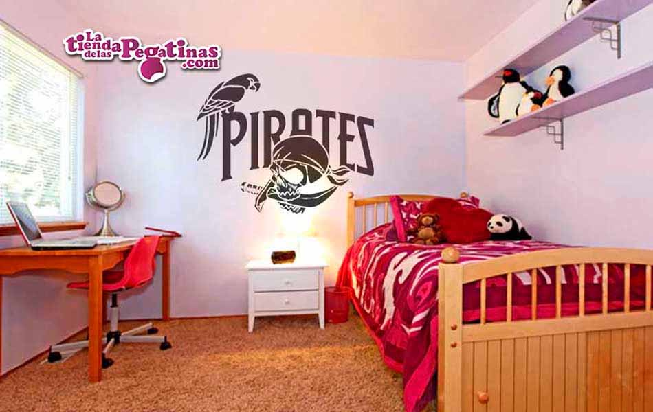 Vinilo decorativo - Piratas y Loros