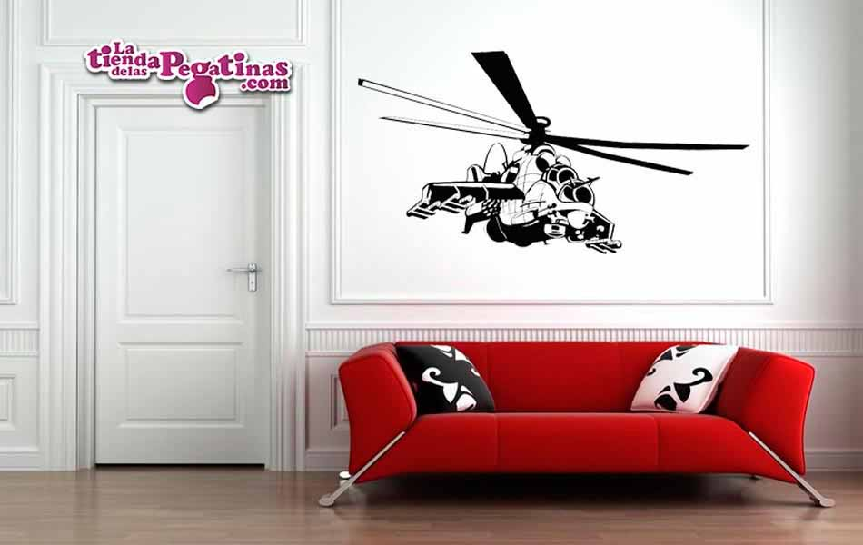 Vinilo - Helicoptero Apache