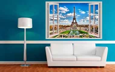 Vinilo decorativo - Ventana a París 2