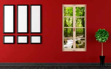 Vinilo decorativo - Ventana al bosque