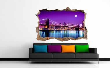Vinilo decorativo - Agujero a Nueva York
